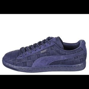 503f92cc438 Puma Shoes - Puma   Navy Blue Solange Suede Classic Squares